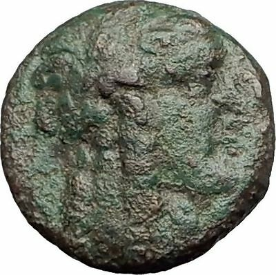 ANTIOCHOS III Megas 222BC RARE R1 Ancient Greek SELEUKID King Coin APOLLO i62317