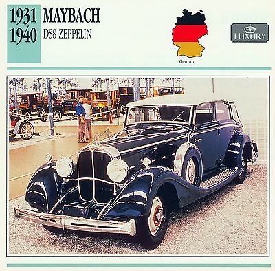 1931-1940 MAYBACH DS8 ZEPPELIN collector card.