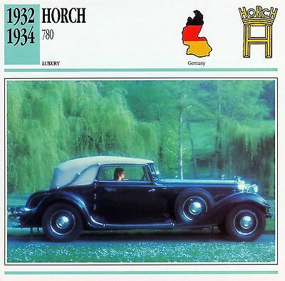 1932-1934 HORCH 780 collector card.