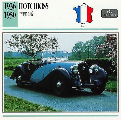 1936-1950 HOTCHKISS TYPE 686 collector card.