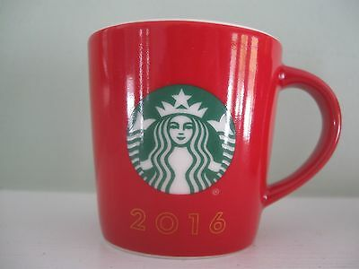Holiday 2016 STARBUCK LOGO Mini Coffee Expresso Demitasse 3 oz. Red Mug Cup NEW