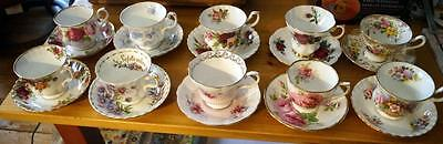 ROYAL ALBERT 10 sets TEA CUP and SAUCER 10 patterns Mint condition