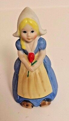 Vintage Dutch Girl Bell Made In Taiwan  Little Dutch Girl Holding A Tulip