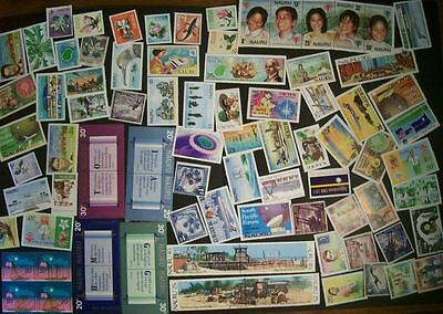 Nauru - 146 different stamps, nice colourful range, lots of Mint (DD)