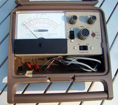 Really Nice Vintage Heathkit Transistor Tester Model IT-18 Working w/ Case