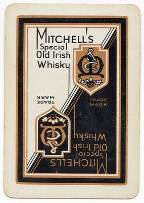Playing Cards 1 Single Swap - Vintage Wide MITCHELL'S Special Old IRISH WHISKY