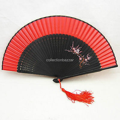 Chinese Bamboo Folding Silk HAND FAN for Wedding Party Gift/ Collection F