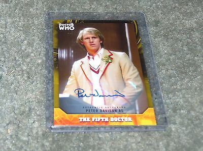 2017 Topps Doctor Who Signature Peter Davidson Gold  Autograph 20 / 25