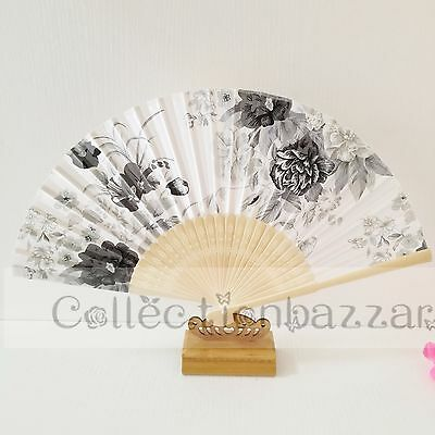 Chinese Bamboo Folding Silk Floral HAND FAN for Wedding Party Gift G