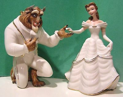 LENOX BEAUTY and the BEAST MY HAND MY HEART IS YOURS New in Boxes withCOAs Belle
