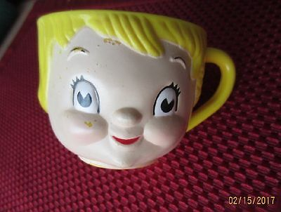 Vintage Campbell Soup Kid Dolly Dingle Collectible Plastic Cup Mug 1970's