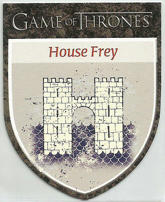 """Game of Thrones Season 1 ~ """"THE HOUSES"""" Insert Card H7 House Frey"""