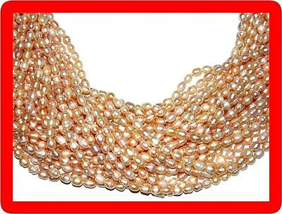 10 genuine cultured pearl necklaces lot wholesale pink