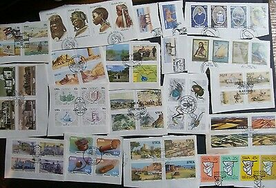 South West Africa kiloware - 222 stamps on paper, full sets off Covers FDCs (1Q)