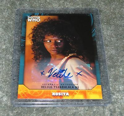2017 Topps Doctor Who Signature Rosita Autograph