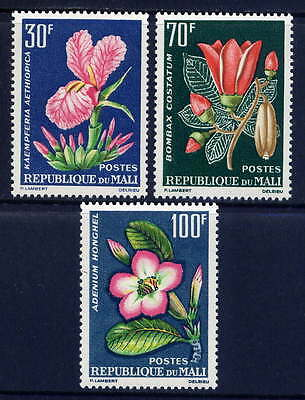 MALI Sc#55-7 1963 Tropical Flowers MNH