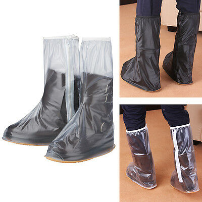 Fashion Male Female Waterproof Rain Boots Non-slip Shoes Cover Frosted Tall PVC