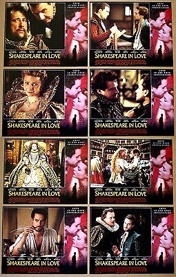 SHAKESPEARE IN LOVE Gwyneth Paltrow, Joseph Fiennes SET of 8 11x14 LOBBY CARDS