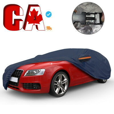 Full Car Cover Snow Rain Dust UV Resistant Waterproof All Weather Protection CA
