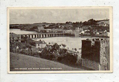 """""postcard The Bridge And River Torridge,bideford,devon"""""