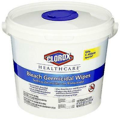 Clorox 30358 Healthcare Bleach Germicidal Wipe (110 Count) New