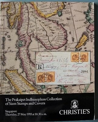 Auction catalogue Prakaipet Indhusophon Siam Stamps Covers Thailand post history