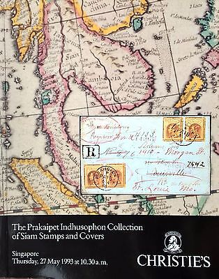 Christie's Auction Catalogue PRAKAIPET INDHUSOPHON SIAM STAMPS COVERS Thailand