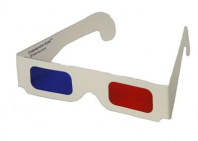 Doctor WHO - 10th Doctor 3D Glasses - Red Blue Cardboard - Cosplay