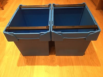 Storage / Recycling boxes with Stacking Frame Medium Size , 2 Pack