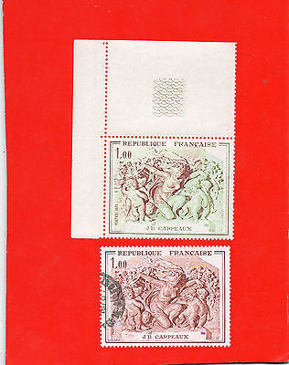 Timbre France N°1641 Seconde Impression Partielle.neuf Xx.tb +Normal Olitere.