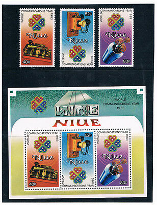 NIUE 1984 World Communications Year (with S/S)