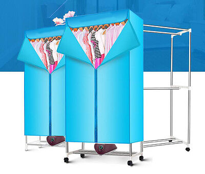 Blue Mute Portable Energy-saving Rotary Control Home Electric Air Clothes Dryer