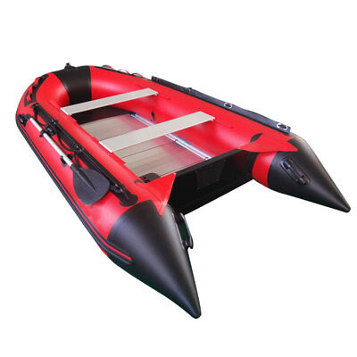 8.8ft Inflatable Boat For Fishing Inflatable Tender Dinghy Pontoon Raft Assault