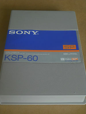 1 x SONY KSP60 BLANK U-MATIC VIDEO TAPE + CASE - NEW - FREE UK POST & PACKING