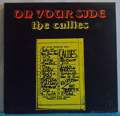 THE CALLIES On Your Side - Original UK LP on Rubber Records - Folk