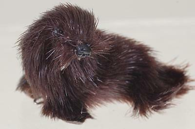 Baby Walrus Brooch - An Original Natural Fur Toy Made In Us Zone W.germany 1945