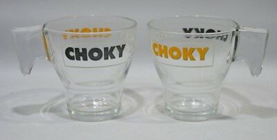 CHOKY 2 grands verres chocolat chaud NEUF