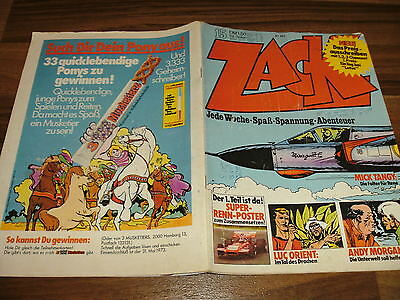 ZACK  Nr. 15/1973 -- MICHEL VAILLANT+MICK TANGY+ANDY MORGAN+LUC ORIENT+PANCHO
