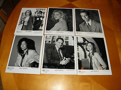 Ally McBeal 1997 Promo Press Photos 16 Diff Individual Cast + Group shots NM-