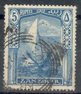 ZANZIBAR.1913, 5R. Boat, Fine Used. SEE ITEM SPECIFICS BELOW