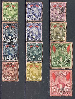 ZANZIBAR.1896, Values to 4R, Fine Used. SEE ITEM SPECIFICS BELOW