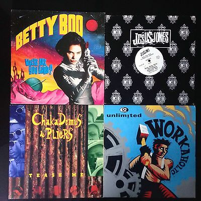 "8 12"" Records Betty Boo, M People, Was Not Was, Jesus Jones, 2 unlimited"