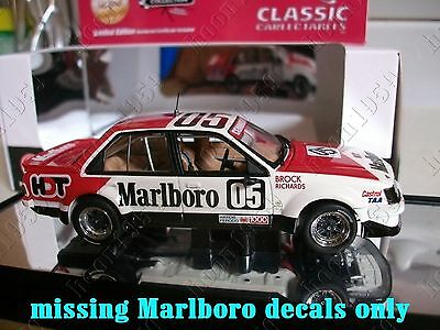 1:43 Watersilde missing MARLB0R0 decals Classic Brock 1980 Bathurst VC