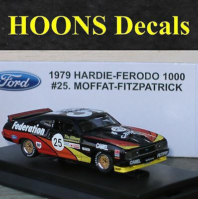 1:64 Waterslide missing Decals for Moffat 1979 XC Federation Falcon coupe