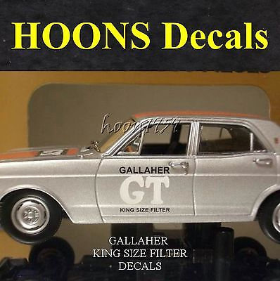 1:43 Waterslide missing Tobacco Decals for Classic Gallaher XR GT Ford Falcon