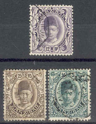 ZANZIBAR.1908, 12c, 25c, 50c, Fine Used. SEE ITEM SPECIFICS BELOW