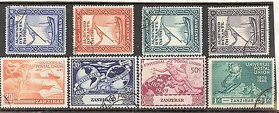 ZANZIBAR.1944 Bicent. & 1949 U.P.U. sets, Fine Used. SEE ITEM SPECIFICS BELOW