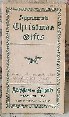 1920 Abraham & Strauss Brooklyn Ny Antique Christmas Gifts Retail Print Catalog