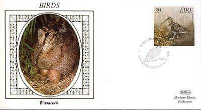 1989 EIRE Woodcock Birds Benham small silk cover ref96