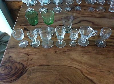 Antique glasses collection victorian etc,  mixed lot over 140,  inc Rummers ,etc
